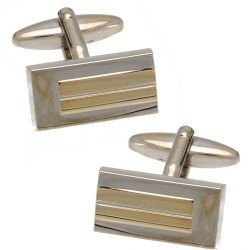 Cole Silver and Gold tone Cufflinks