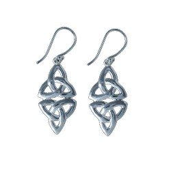 CIRI Silver Plated Celtic Design Hook Earrings by VIZ