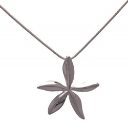 GEOVANA Silver Plated Star Flower Pendant Necklace by VIZ