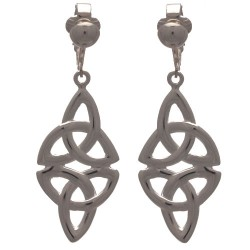CIRI Silver Plated Celtic Design Clip On Earrings by VIZ