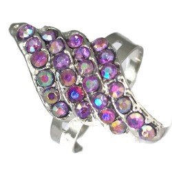 Hawaii Amethyst Adjustable Fashion Ring