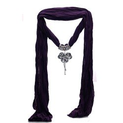ROMA Butterfly Pendant Purple Scarf