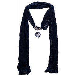 TRILLAIRE Navy Blue Scarf Pendant