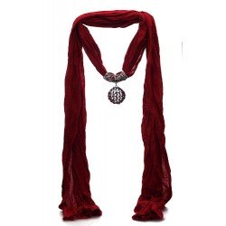 TRILLAIRE Red Scarf Pendant