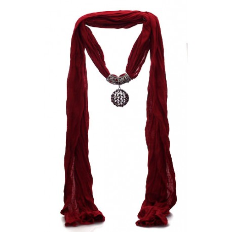 Trillaire red scarf pendant aj fashion jewellery trillaire red scarf pendant aloadofball Choice Image