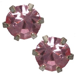 Hope 6mm Pink Stud Earrings