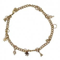 NEELANJANA Gold Plated Ankle Chain