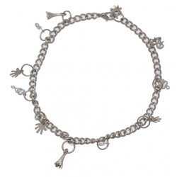 NEELANJANA Silver Plated Ankle Chain