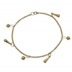 OJASWINI Gold Plated Ankle Chain