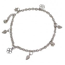 RAGINI Silver Plated Ankle Chain