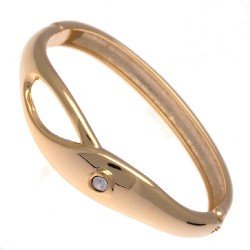 Colbie Gold tone Crystal Bangle