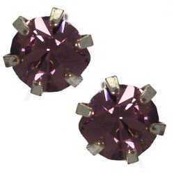 Hope 6mm Lilac Stud Earrings