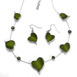 Acquilina Green Choker Necklace Set