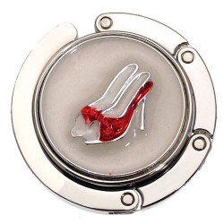 SENORITA Silver tone Red Shoes Handbag Hook