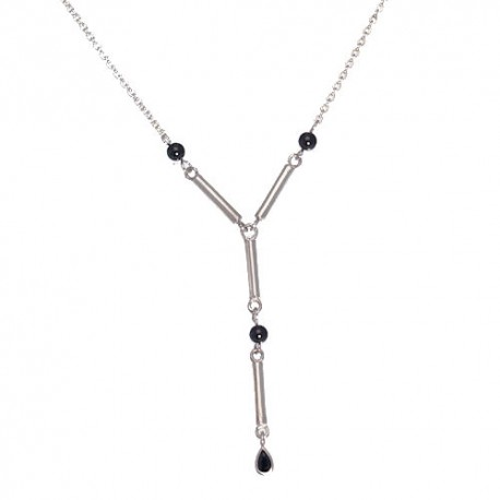 Michie Black CZ Necklace