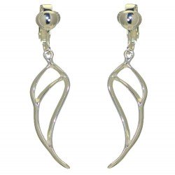 GABRIEL Silver Plated Open Angel Wing Clip On earrings by VIZ