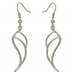 GABRIEL Silver Plated Open Angel Wing Hook earrings by VIZ