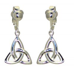 ABIDA Silver Plated Half Celtic Clip On Earrings by VIZ