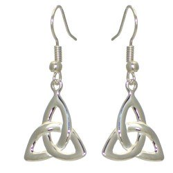 ABIDA Silver Plated Half Celtic Hook Earrings by VIZ