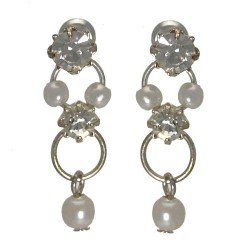 Nastasia Small Pearl Post Earrings