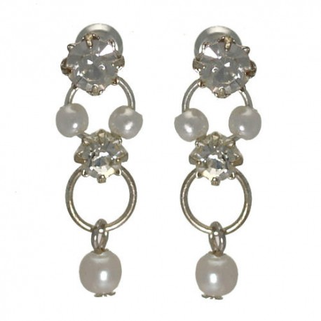 Nastasia Small faux Pearl Post Earrings