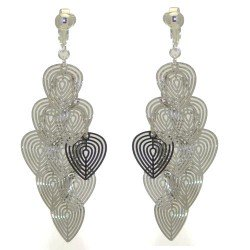 MELISANDE Silver plated Hearts Clip On Earrings
