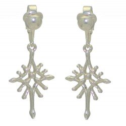 STARDROP Silver Plated Clip On Earrings by Rodney