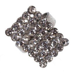 Denver Silver tone Crystal Fashion Ring