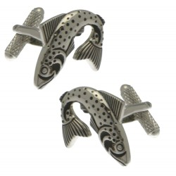 FISH Silver Plated Fish Cufflinks