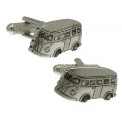 CAMPERVAN Rhodium Plated Campervan Cufflinks