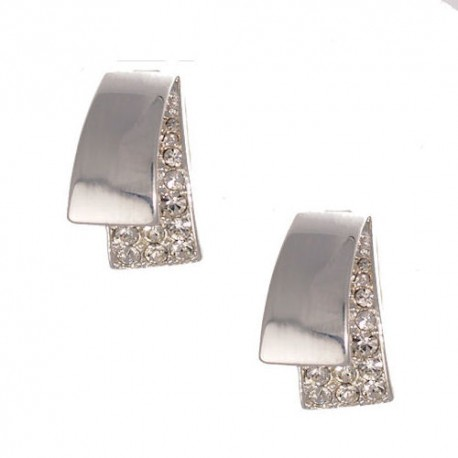 Deanna Silver tone Clip Earrings