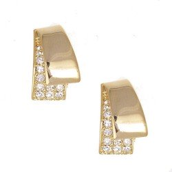 Deanna Gold Clip Earrings