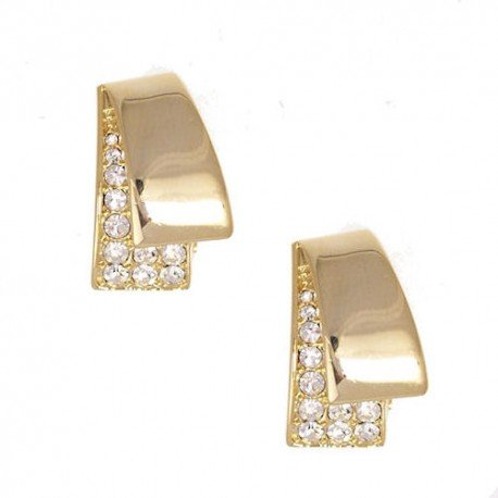 Deanna Gold tone Clip Earrings