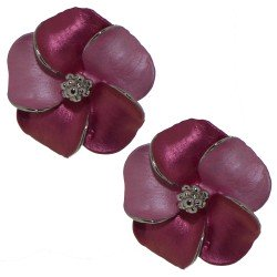 APRONIA silver plated fuchsia Clip on earrings by Rodney