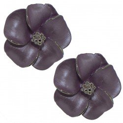 APRONIA silver plated lilac clip on earrings by Rodney