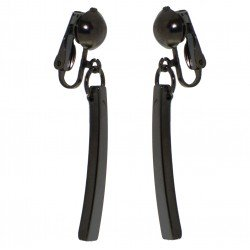 HALCYON Hematite Drop Clip On Earrings by Rodney