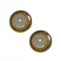 ACANTHA 16mm gold plated clip on earrings by Rodney