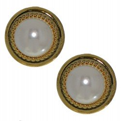 ACANTHA 21mm gold plated clip on earrings by Rodney