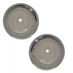 ACANTHA 21mm silver plated clip on earrings by Rodney