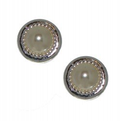 ACANTHA 16mm silver plated clip on earrings by Rodney