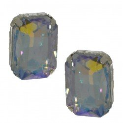 ALTHEA silver plated crystal clip on earrings