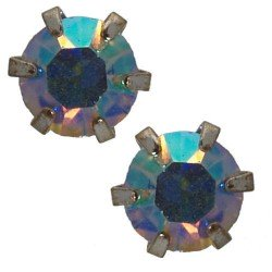 Hope 6mm Multi Coloured Stud Earrings