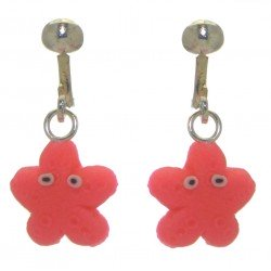 YOUNG'UNS STARFISH sterling silver and resin clip on earrings