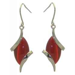 ALLIE silver plated red hook earrings by Rodney