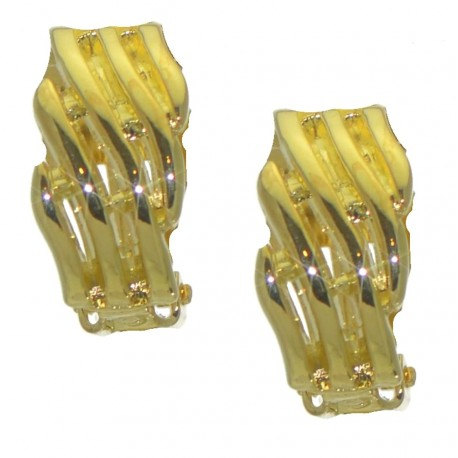 ABEONA gold plated clip on earrings by Rodney