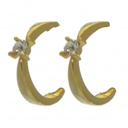 PEYTON gold plated crystal clip on earrings by Rodney