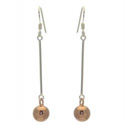 ABRIANA sterling silver and rose gold hook earrings by SPK