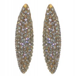 ADRIENNE gold plated crystal clip on earrings
