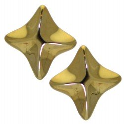 ANGIOLETTA gold plated star clip on earrings