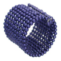 Captivate Blueberry faux Pearl Cuff Bangle